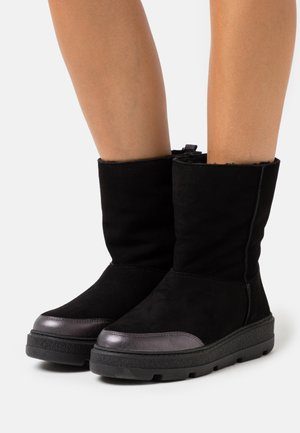 FLOU - Winter boots - black/light metal antracite
