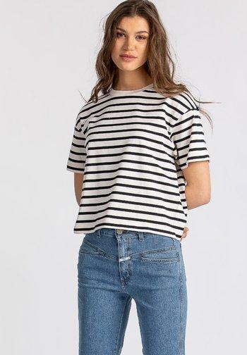 LUNIE - Print T-shirt - white
