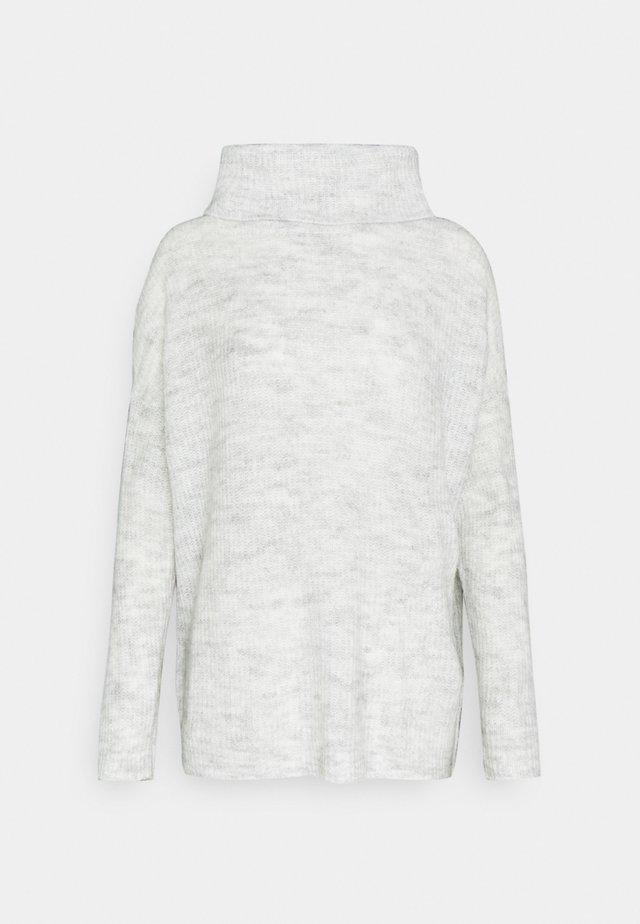 ONLMIRNA ROLLNECK - Stickad tröja - light grey melange