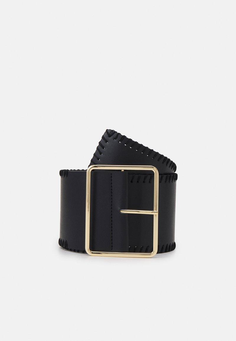 Pieces - PCNANAMI WAIST BELT - Midjebelte - black/gold-coloured