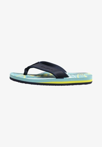 Pool shoes - blue with yellow