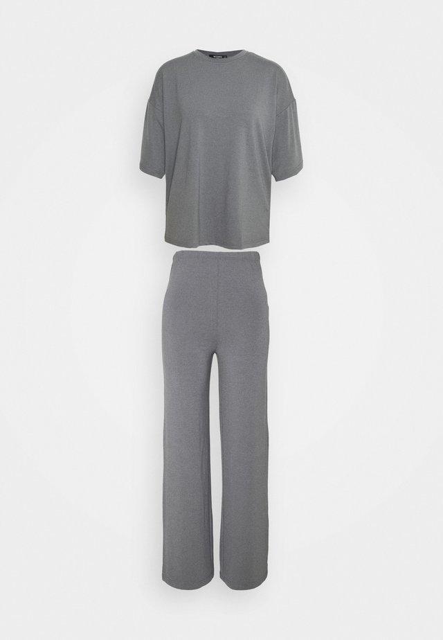 WIDE LEG SET - Pantalon classique - grey