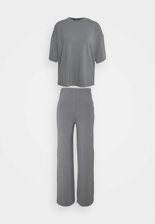 WIDE LEG SET - Tygbyxor - grey