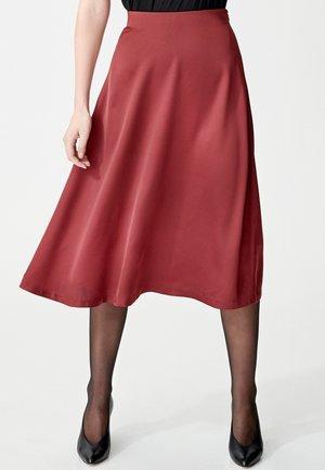 A-line skirt - wine