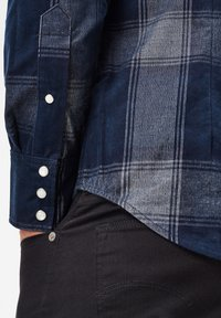 G-Star - 3301 SLIM CHECK - Shirt - sartho blue james check - 5