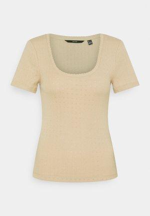 VMZOE TEE - Basic T-shirt - beige