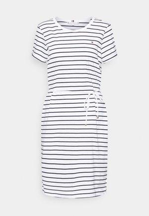COOL SHIFT SHORT DRESS  - Jersey dress - white/sky