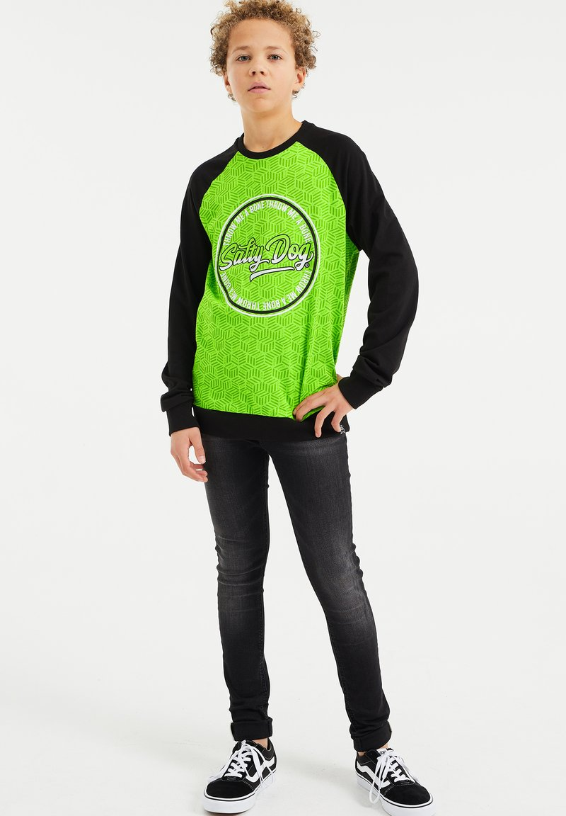 WE Fashion - SALTY DOG - Longsleeve - bright green