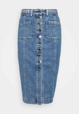 BRUNA GONNA - Pencil skirt - blue denim