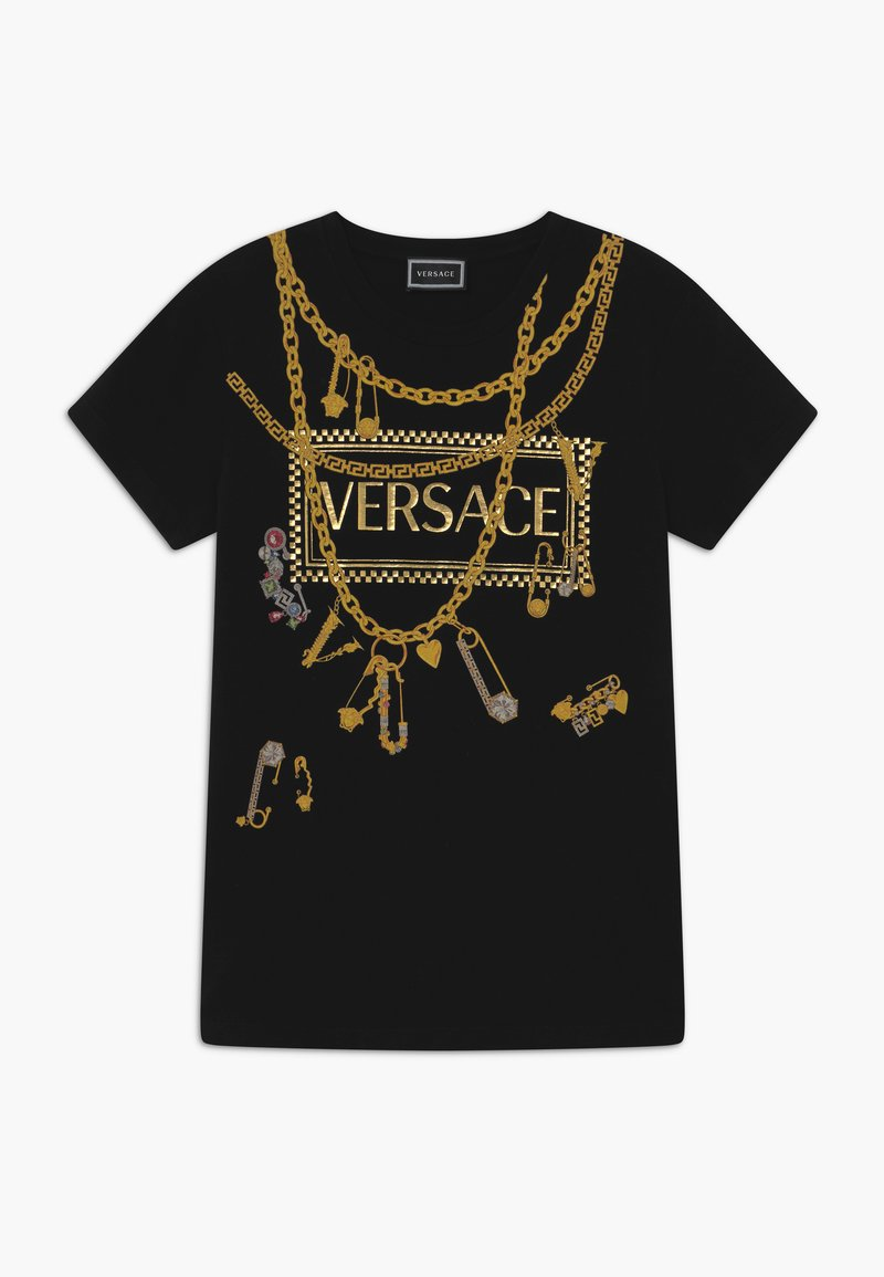 Versace - MAGLIETTA MANICA CORTA - Triko spotiskem - nero