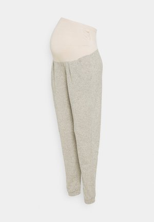 OVER BUMP BRUSHED JOGGER - Pantalones deportivos - oatmeal marl