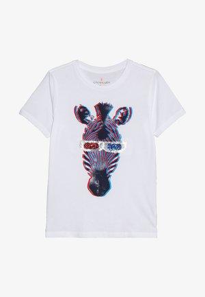 3D ZEBRA - T-shirts print - white