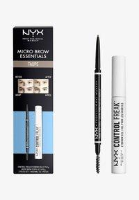 Nyx Professional Makeup - MICRO BROW ESSENTIALS – MIRCRO BROW PENCIL - Makeup set - taupe - 0