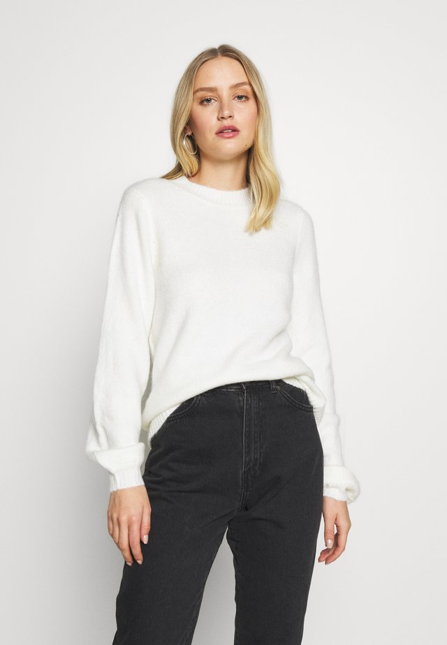 BOW BACK JUMPER - Neule - ivory