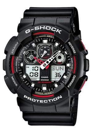 G-SHOCK - Chronograph watch - black/red