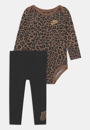LEOPARD PANT SET - Legging - black
