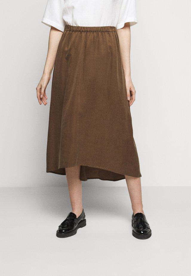 RAHEL - A-line skirt - brown