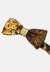 Versace - TIES WASHED HERITAGE ANIMAILER PRINT - Vlinderdas - gold/brown/white - 2