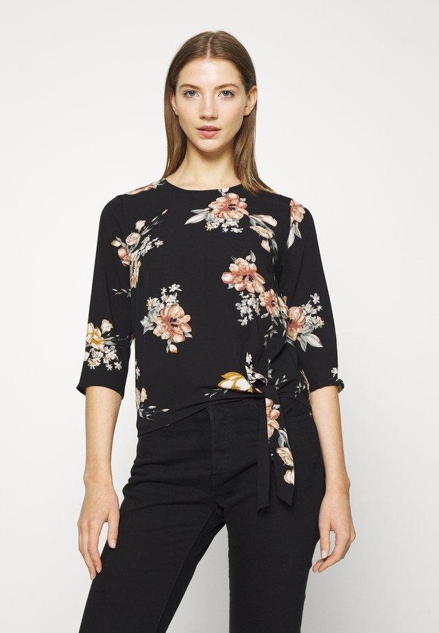 ONLNOVA LUX KNOT - Bluzka - black/romantic flower