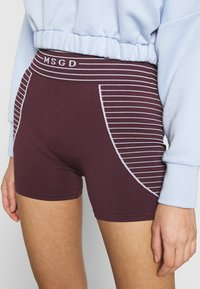 Missguided - SEAMLESS BOOTY - Shorts - burgundy - 3