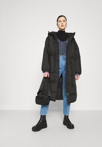 Weekday - ALLY LONG PUFFER - Winter coat - black - 1
