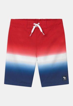 BOARD - Short de bain - red/white/blue ombre