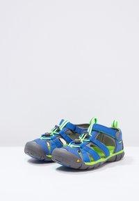 Keen - SEACAMP II CNX - Walking sandals - true blue/jasmine green - 2
