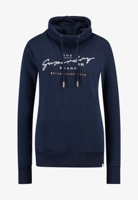 Superdry - APPLIQUE FUNNEL HOOD - Hoodie - navy - 4