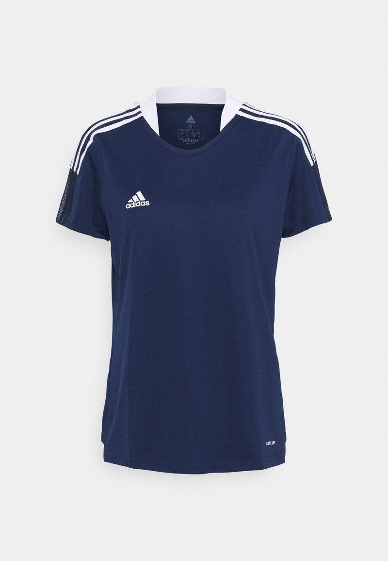 adidas Performance - TIRO 21 - T-shirts med print - navy blue