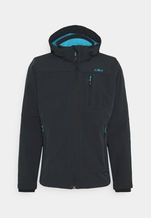 MAN JACKET ZIP HOOD - Softshellová bunda - antracite sky
