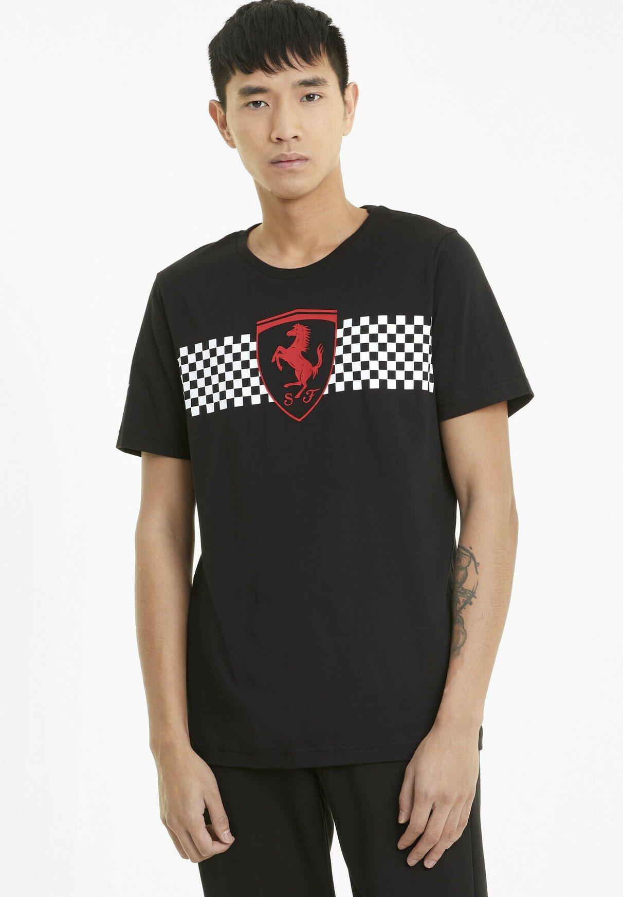 Puma Scuderia Ferrari T Shirt Print Black Schwarz Zalando De