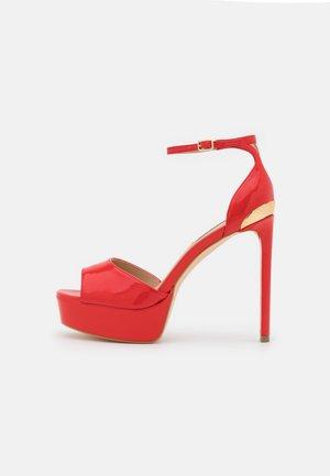 ALDEN - Platform sandals - red