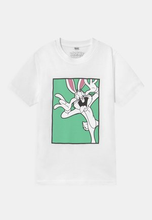 LOONEY TUNES BUGS BUNNY FUNNY FACE TEE UNISEX - T-shirt con stampa - white