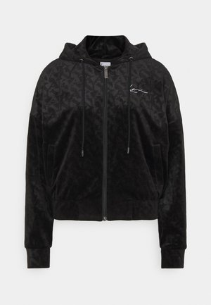CHEST SIGNATURE JACKET - Zip-up hoodie - black