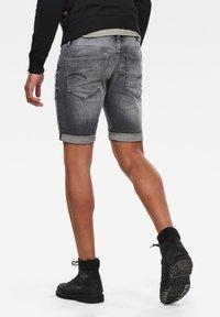 G-Star - 3301 SLIM - Denim shorts - vintage basalt destroyed - 5