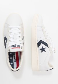 Converse - PRO LEATHER - Trainers - white/obsidian/egret - 1