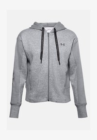Under Armour - RIVAL - Zip-up hoodie - steel medium heather - 3