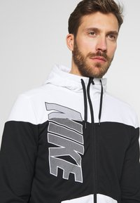 Nike Performance - Zip-up hoodie - black/white - 3