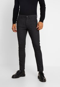 Jack & Jones - JJIMARCO JJCHARLES CHECK  - Pantaloni - black - 0