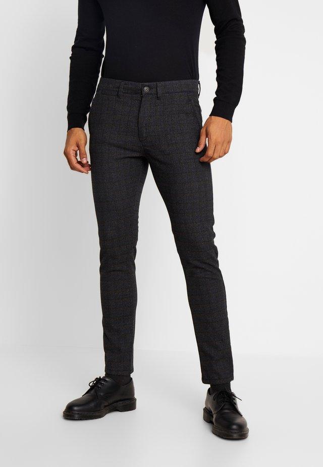 JJIMARCO JJCHARLES CHECK  - Spodnie materiałowe - black