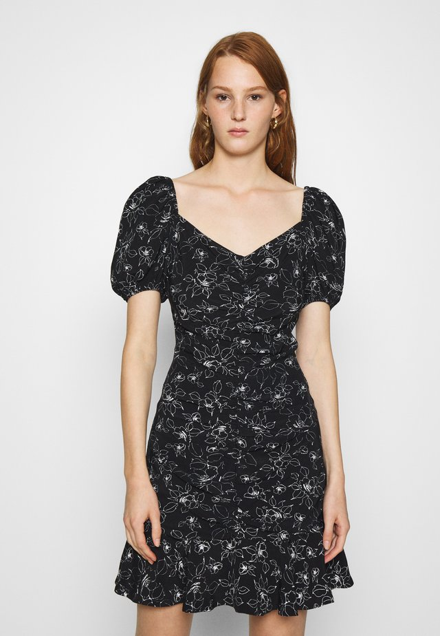 PRINTED DRESS - Day dress - black