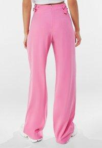 Bershka - Trousers - pink - 2