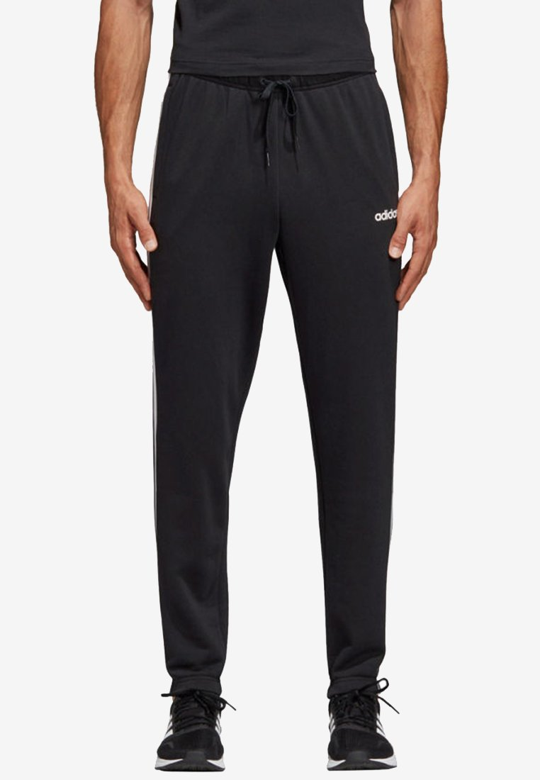 adidas Performance - ESSENTIALS 3STRIPES FRENCH TERRY SPORT PANTS - Tracksuit bottoms - black