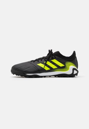 COPA SENSE.3 TF - Astro turf trainers - core black/footwear white/solar yellow
