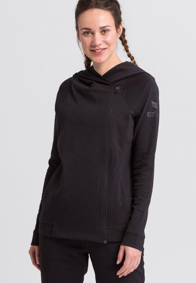 Zip-up hoodie - schwarz / grau