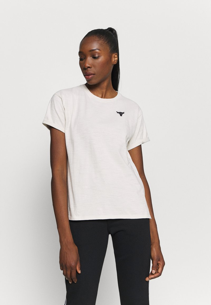 Under Armour - PROJECT ROCK - Print T-shirt - summit white