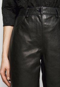 Lovechild - ASTON - Leather trousers - black - 5