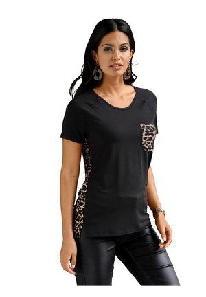 Print T-shirt - schwarz,braun