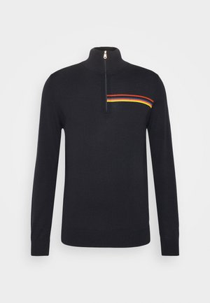 ZIP NECK - Jumper - dark blue
