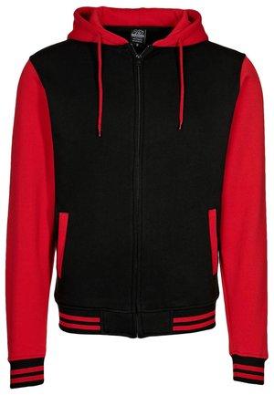 Sweater met rits - black/ red